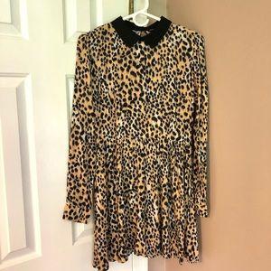 Forever 21 l Animal Print Collared Dress